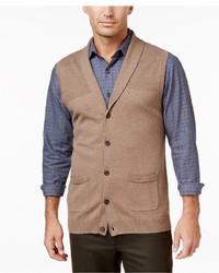 Tasso Elba Shawl Collar Vest Only At Macys