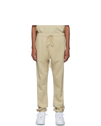 Essentials Ssense Beige Logo Lounge Pants