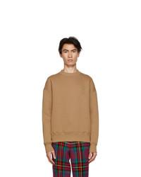 AMI Alexandre Mattiussi Brown Fleece Ami De Coeur Sweatshirt