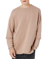 Topman Layer Sleeve Sweatshirt