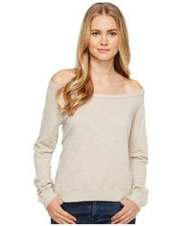 Three Dots Off Shoulder Sweatshirt Sweatshirt
