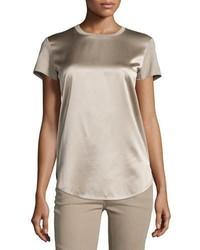 Ralph Lauren Collection Short Sleeve Combo T Shirt Taupe