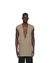 Rick Owens Grey Dylan Sleeveless T Shirt