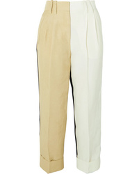 Petar Petrov Color Block Tapered Pants