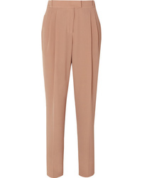 Emilia Wickstead Crepe High Rise Slim Leg Pants