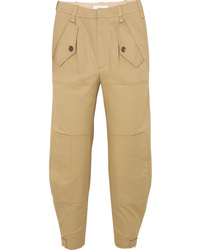 Chloé Cropped Cotton Blend Gabardine Tapered Pants