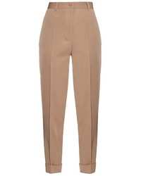 Bottega Veneta High Waisted Wool Twill Trousers