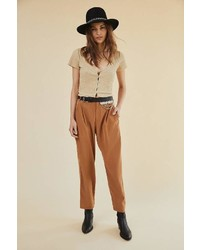 Urban Outfitters Uo Silky Soft Tapered Pant