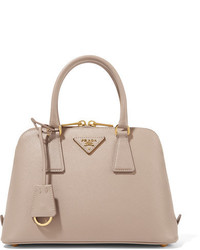 Prada Proade Textured Leather Tote Blush