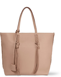 Tod's Gypsy Medium Textured Leather Tote Beige