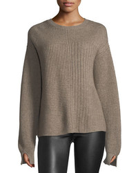 Helmut Lang Crewneck Long Sleeve Textured Pullover Sweater