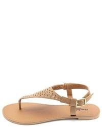 adf40349e ... Charlotte Russe Flat Laser Cut Thong Sandals ...