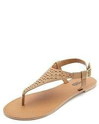 a1b414a3e ... Charlotte Russe Flat Laser Cut Thong Sandals