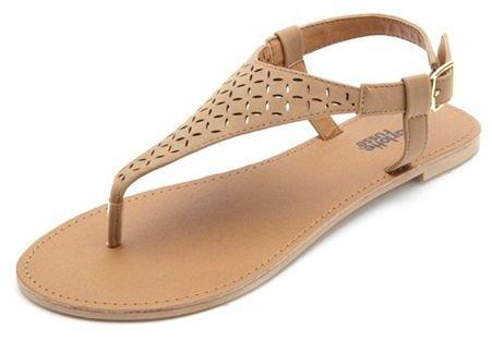 43b77597fe18 ... Charlotte Russe Flat Laser Cut Thong Sandals ...