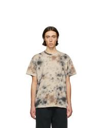 Tan Tie-Dye Crew-neck T-shirt