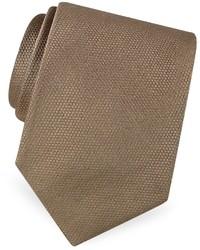Gold line solid woven silk tie medium 18212