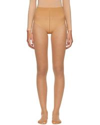 Wolford Beige Individual 10 Back Seam Tights