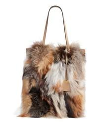 Michael Kors Michl Kors Large Elenor Genuine Fox Fur Tote