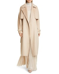 Max Mara Agar 2 In 1 Double Face Camel Hair Cashmere Trench Coat