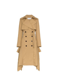 Chloé Asymmetric Hem Wool Trench Coat
