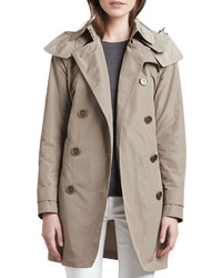 Burberry Balmoral Trenchcoat With Removable Hood Sisal