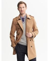 Banana Republic Camel Wool Belted Trench