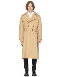 Alexander McQueen Beige Cotton Gabardine Trench Coat