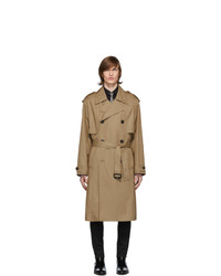 Saint Laurent Beige Gabardine Trench Coat