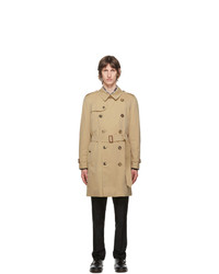 Burberry Beige Kensington Heritage Mid Length Trench Coat