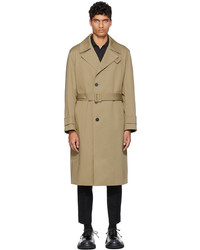 Solid Homme Beige Minimal Cotton Trench Coat