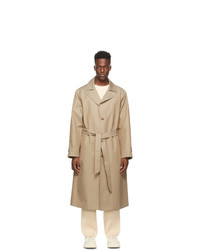 LE17SEPTEMBRE Beige Twill Single Breasted Trench Coat
