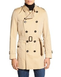 Burberry Big Tall Kensington Double Breasted Trench Coat