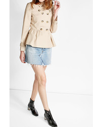 Moschino Boutique Cotton Trench Jacket With Peplum
