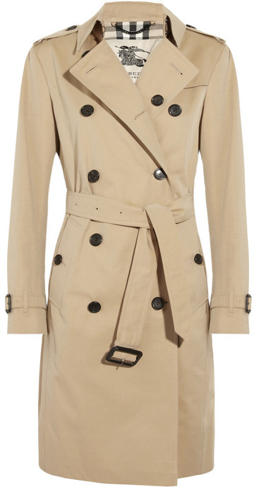 tan trenchcoat burberry london cotton twill trench coat. Black Bedroom Furniture Sets. Home Design Ideas