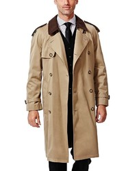 Haggar Classic Fit Double Breasted Trench Coat