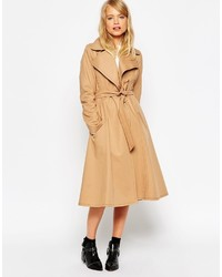 Asos Collection Trench With Contrast Stitch Detail