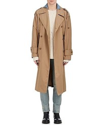 Maison Margiela Cotton Twill Belted Trench Coat