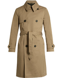 Ami Double Breasted Cotton Twill Trench Coat