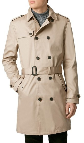 d10a15fa2f24 Topman Double Breasted Trench Coat, $140 | Nordstrom | Lookastic.com
