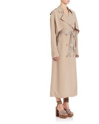 Alexander Wang Grommet Belt Blouson Back Trench Coat
