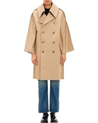 Comme des Garcons Junya Watanabe Comme Des Garons Double Breasted Macintosh Coat Nude S