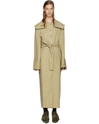 Jw anderson tan draped trench coat medium 786316