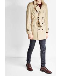 Burberry Kensington Mid Cotton Trench Jacket