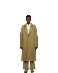 Kenzo Khaki Cotton Long Coat