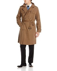 London Fog Plymouth Twill Belted Double Breasted Iconic Trench Coat