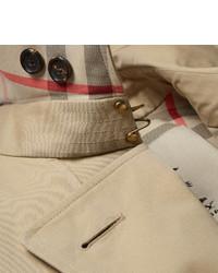 Burberry London Kensington Mid Length Cotton Gabardine Trench Coat