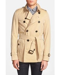 Sandringham short double breasted trench coat medium 238255