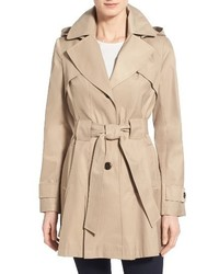 Via Spiga Scarpa Hooded Single Breasted Trench Coat