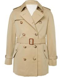 Alexander McQueen Slim Fit Cotton Gabardine Trench Coat