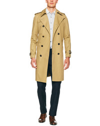 Solid Trench Coat